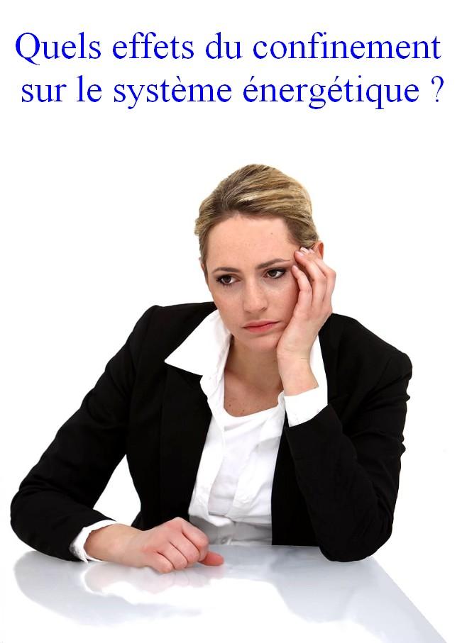 effets Confinement : effets sur le système énergétique.