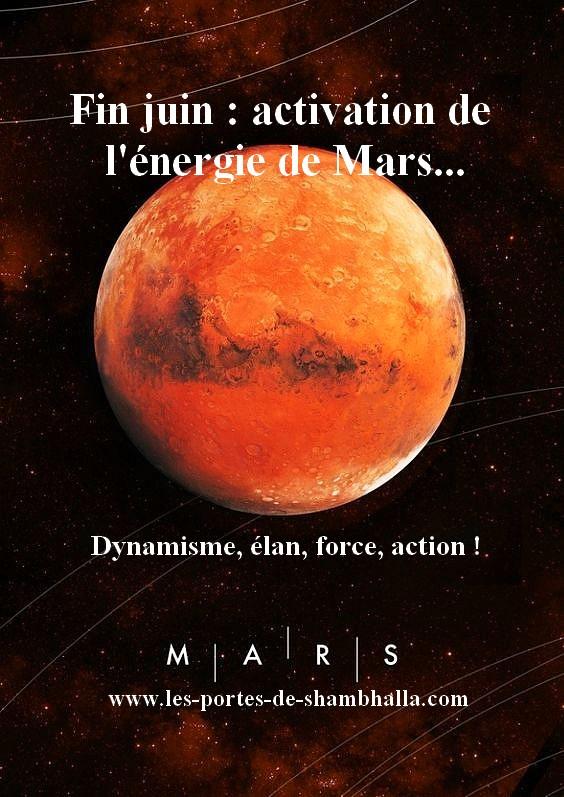 MARS-COME-BACK Activation de l'énergie de Mars.
